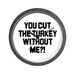 Cut The Turkey Wall Clock