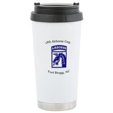 18th ABN Corps Ceramic Travel Mug