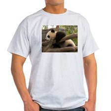 Baby Giant Panda Ash Grey T-Shirt