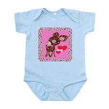 Doe The Deer Pink Hearts & Flowers Baby Suit 2