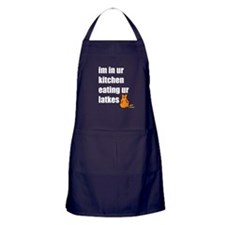 Eating Ur Latkes Apron (dark)