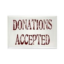 Donations Accepted Rectangle Magnet (100 pack)