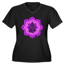 www.YogaGlam.com Women's Plus Size V-Neck Dark T-S