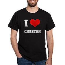 I Love Chester Black T-Shirt