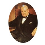 Winston Churchill Christmas Ornament