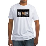 Beware of community organizer Fitted T-Shirt