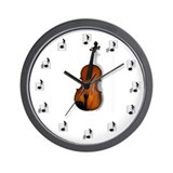 Wall Clock featuring Viola and Music Notes