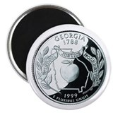 "Georgia Quarter 2.25"" Magnet (10 pack)"