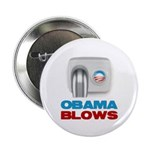 """Obama Blows 2.25"""" Button (100 pack)"""