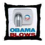 Obama Blows Throw Pillow