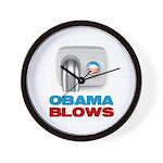 Obama Blows Wall Clock
