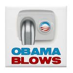 Obama Blows Tile Coaster