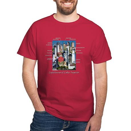 Lighthouses of Lake Superior Dark T-Shirt