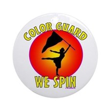 Color Guard -- We Spin Ornament (Round)