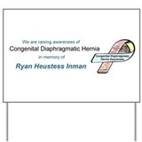 Ryan Heustess Inman CDH Awareness Ribbon Yard Sign