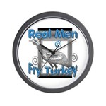 Real Men Wall Clock