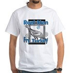 Real Men White T-Shirt