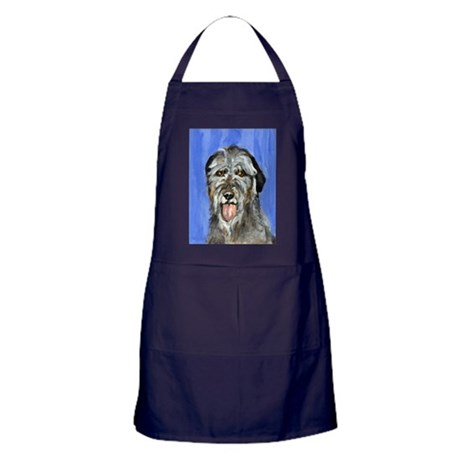 IRISH WOLFHOUND Portrait Desi Apron (dark)