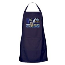 SILKY Terrier art items Apron (dark)
