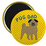 Pug Dog Dad 2.25&quot; Magnet (10 pack)