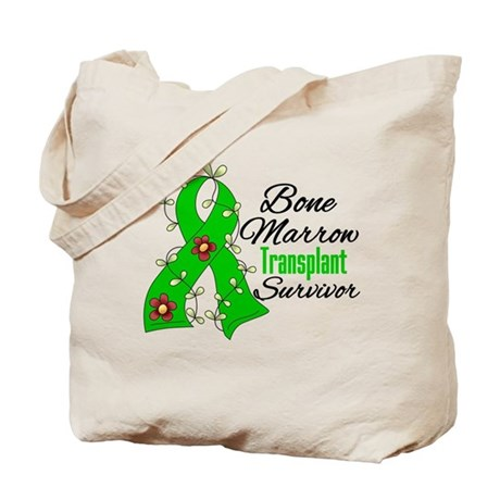 BMT Survivor Flower Ribbon Tote Bag