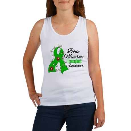 BMT Survivor Flower Ribbon Women's Tank Top