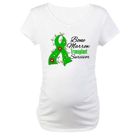 BMT Survivor Flower Ribbon Maternity T-Shirt
