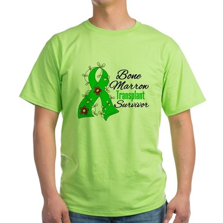 BMT Survivor Flower Ribbon Green T-Shirt