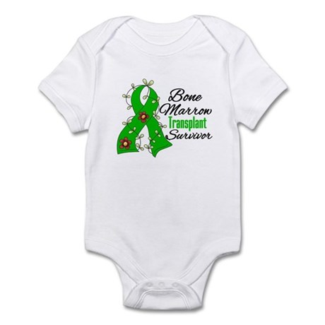BMT Survivor Flower Ribbon Infant Bodysuit