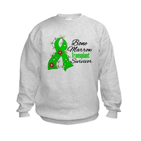 BMT Survivor Flower Ribbon Kids Sweatshirt