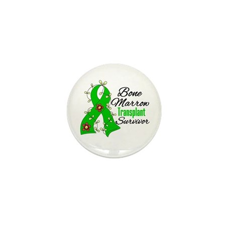 BMT Survivor Flower Ribbon Mini Button (100 pack)