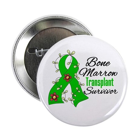 "BMT Survivor Flower Ribbon 2.25"" Button (100 pack)"