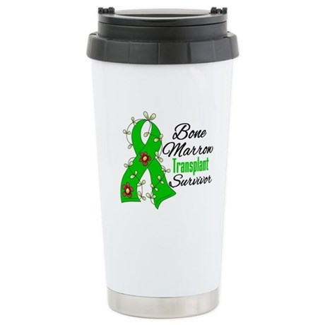 BMT Survivor Flower Ribbon Ceramic Travel Mug
