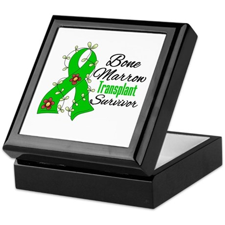 BMT Survivor Flower Ribbon Keepsake Box