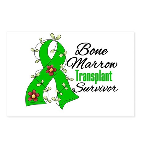 BMT Survivor Flower Ribbon Postcards (Package of 8
