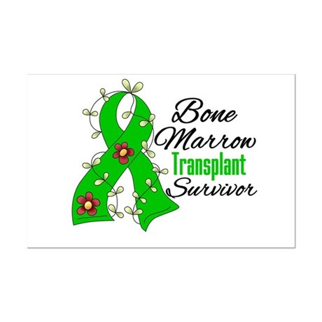 BMT Survivor Flower Ribbon Mini Poster Print