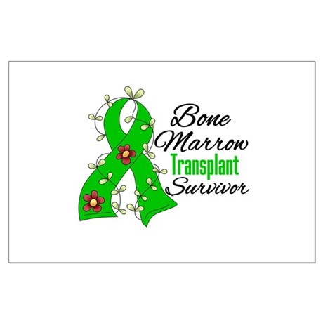BMT Survivor Flower Ribbon Large Poster