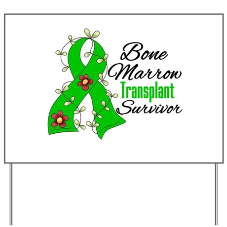 BMT Survivor Flower Ribbon Yard Sign