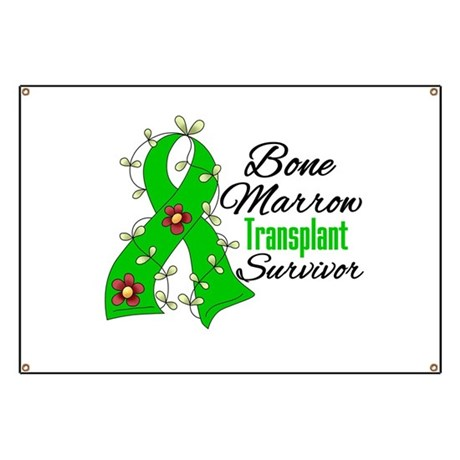 BMT Survivor Flower Ribbon Banner