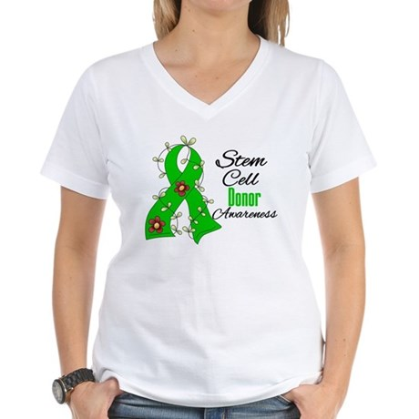 Stem Cell Donor Awareness Women's V-Neck T-Shirt