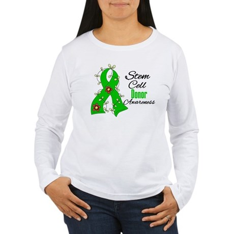 Stem Cell Donor Awareness Women's Long Sleeve T-Sh