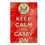 Keep Calm and Carry On Americ Postcards (Package o