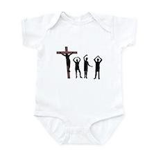 Jesus dancing YMCA Infant Bodysuit