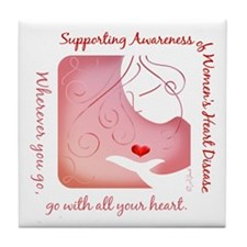 Women's Heart Disease Tile Coaster