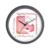 Women's Heart Disease Wall Clock