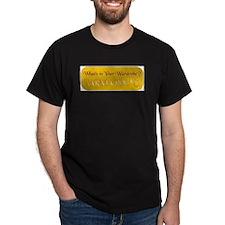 Aslan Rocks! Black T-Shirt