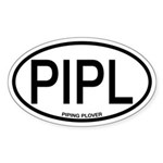 PIPL Piping Plover Alpha Code Oval Sticker