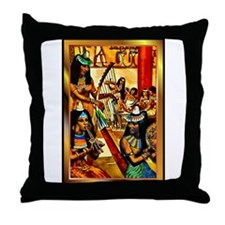 Funny African goddess Throw Pillow