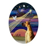 Great Dane Christmas Star Oval Ornament