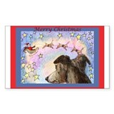 Sleigh flight Rectangle Sticker 10 pk)